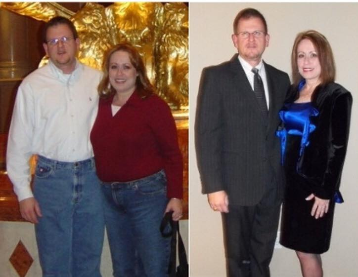 Paula and her husband, Bill, before and after AC/Fast-5